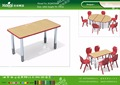 Kaiqi KQ60208B school furniture Combinable student table in rectangle different colors available