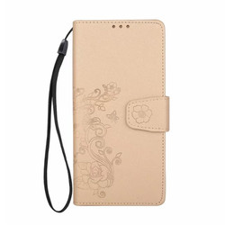 2 in 1 split type glitter embossed flower phone leather wallet case for Samsung Galaxy Note 8