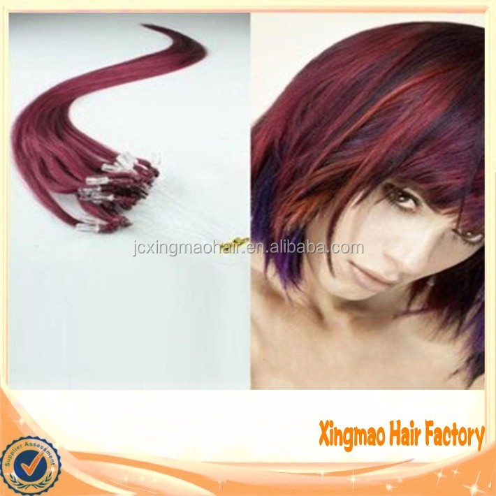5A High Grade Tangle Free No Shed Double Drawn 100% Remy Human Silicone Lined Micro Ring Loop Hair Extension Brazilian Hair