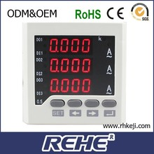 72*72mm digital three phase amperes amp meter manufacturer