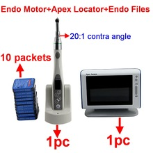 Dental apex locator endodontic endo motor with 20:1 operated electric contra angle