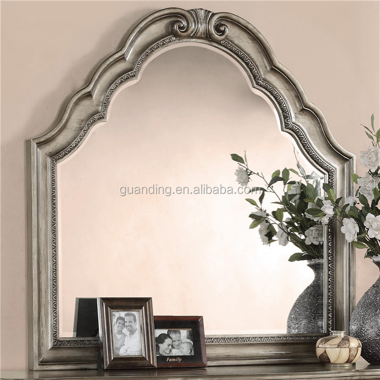 2016 european style decorative antique wooden bedroom wall for Decorative wall mirrors for bedroom