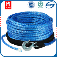 HYropes HW0048 blue Color synthetic rope small electric winch rope