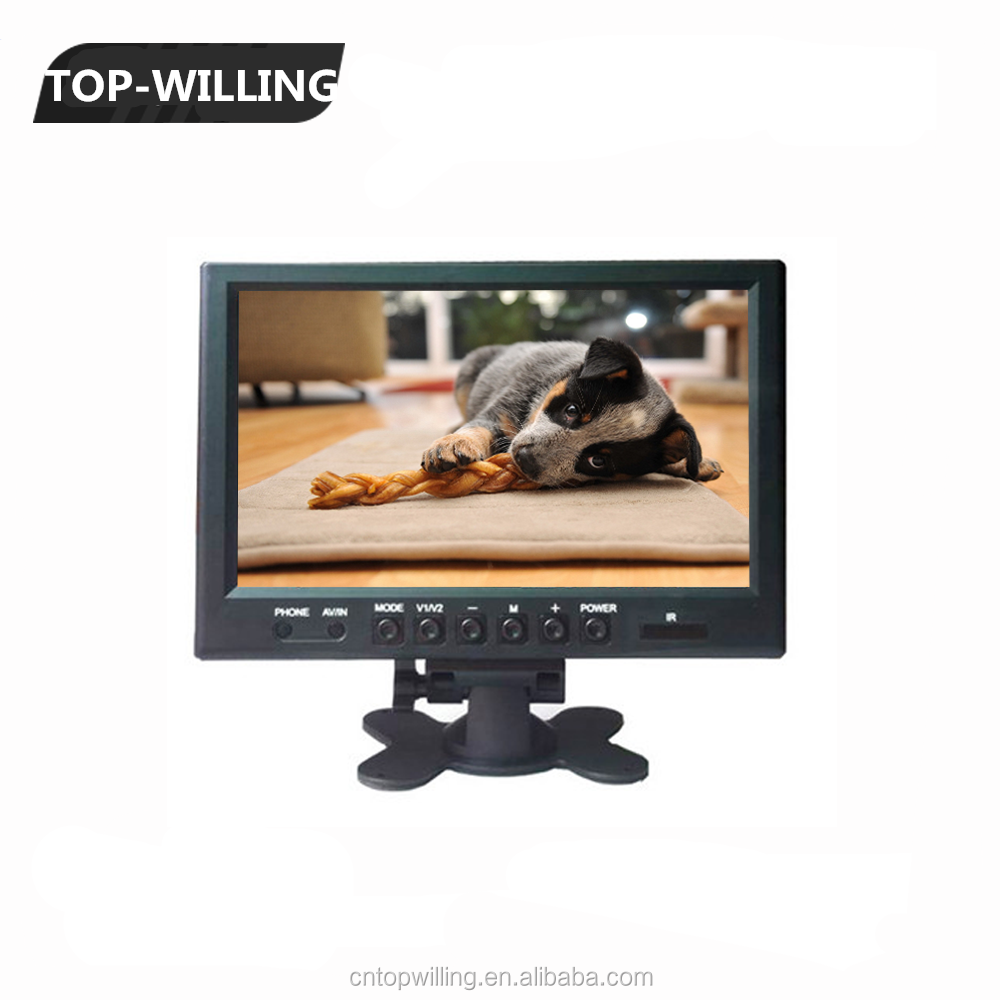 Headrest Monitor 9 inch LCD Touch Screen Monitor with 16:9 Ratio for Advertising