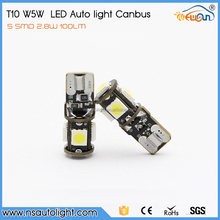 Wholesale 12V T10 5SMD 5050 Car LED Auto Light Bulb W5W Ice Blue/T10 LED