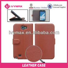 stand mobile leather case for samsung galaxy note2 n7100