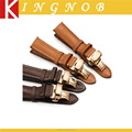 18 19 20 21 22 mm Stainless Steel Ross Gold Deployment Clasp Quick Relase Spring Bar Leather Watch Band Strap