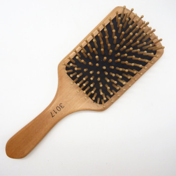 Dongguan personalized wooden hair brush hair combs wooden comb plastic comb