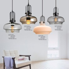 Energy Saving Glass Industrial Loft Decoration Chandelier Ceiling Lamp Pendant Light