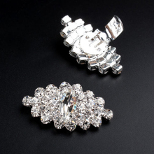 Decorative crystal stone antique shoe buckles shoes heel accessories for women shoes