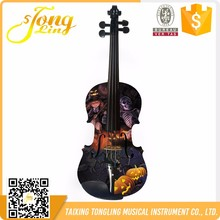 NO-2003 Halloween Common Grade Low Price Spruce Violin In Guangzhou