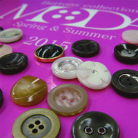 Fashionable and Popular real horn resin button with original made in Japan
