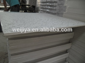 china decorative suspended vinyl coated wall board