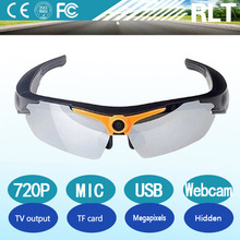 720P HD sport sunglasses sd card pinhole camera support microphone 32GB TF card USB interface hidden camere