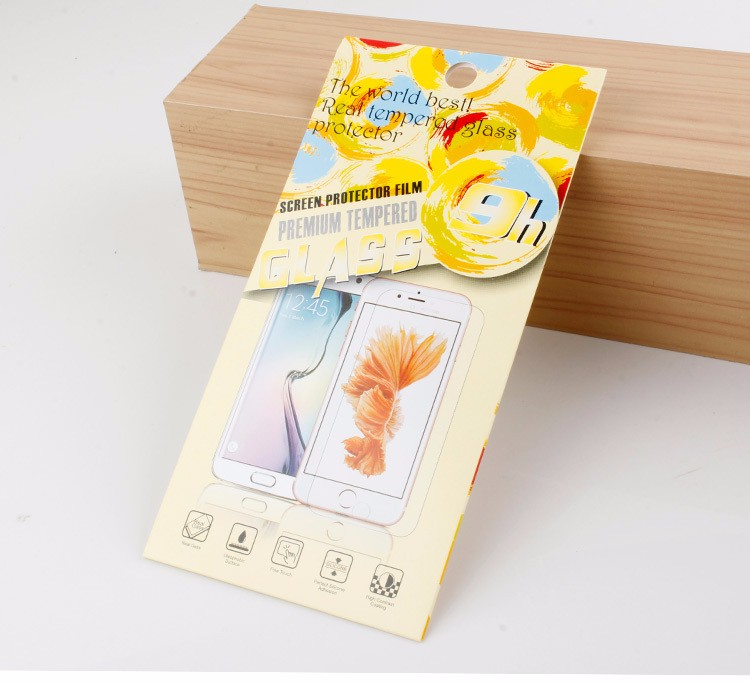 Hot Selling 9H Super Hardness Smudge Proof Screen Protector Film Packaging Box for <strong>iPhone</strong> 7
