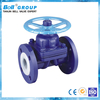 DN250 Cast Steel WCB Flanged Acid Diaphragm Valve