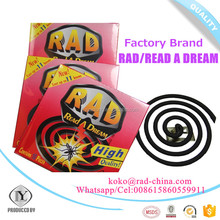 RAD Read A Dream Manufacturer high quality cheap price Plant fiber black mosquito coil