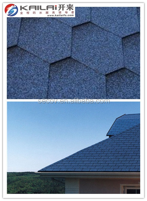 2016 hot sell cheap asphalt roofing shingle with harbor blue color