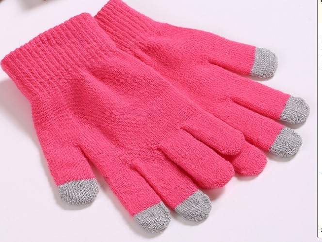 customized five fingers smartphone touch screen gloves