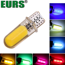 High temperature waterproof 194 2825 WY5W W5W 12V T10 COB silicone auto car dome lamp led clearance light
