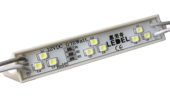 12v 0.72w 66lm 9leds 3528 led module led light for display case ,5 years warranty,UL CE ROHS approved