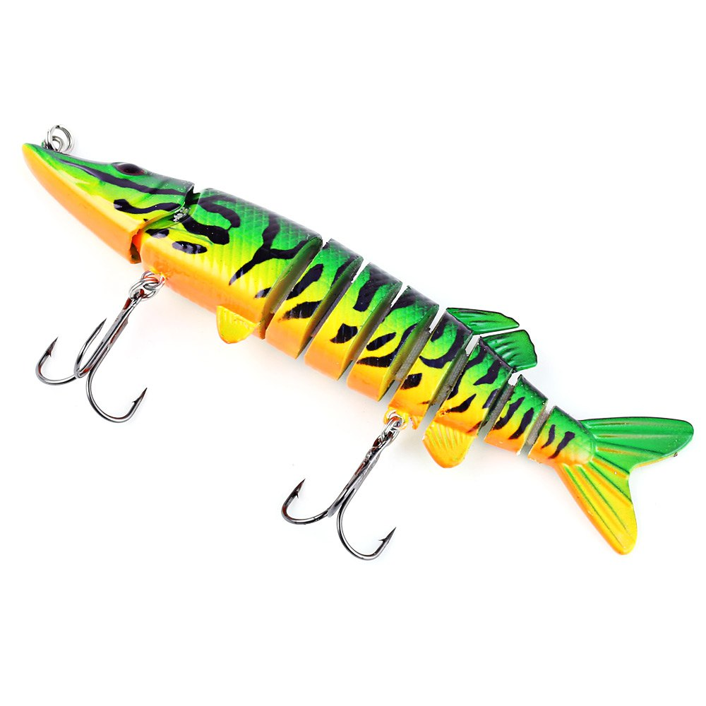 8Colors12.5cm Outdoor Fishing Lures Crank Bait with 2 Hook ABS Verisimilar hard bait Simulation Fishing Tackle Artificial Bait
