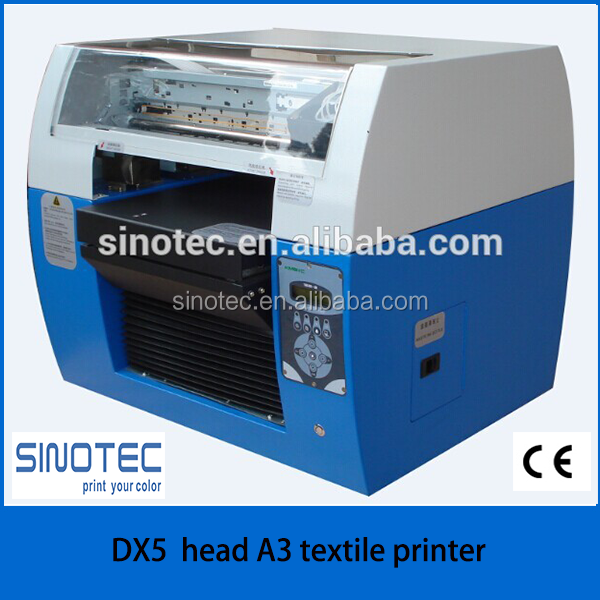 A3 digital textile ink flatbed printer a4 textile flatbed printer