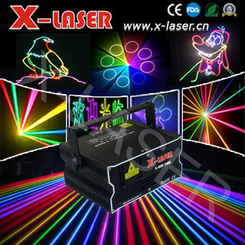 New 1W RGB Full Color 3D Animation moving head laser light/outdoor laser beam light