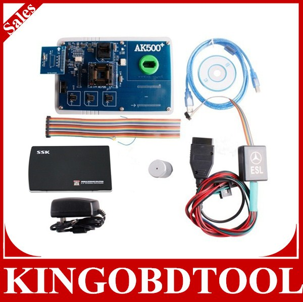 Super ak 500 pro AK500+ key Programmer for AK-500 for benz key programmer,with SKC Super Key Calculator and database hard disk