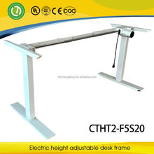 electric single motor 2 columns up and down table height adjustable office desk frame/high quality office table frame