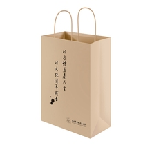 High end customized logo shopping garment kraft paper bag reusable, handled kraft paper bag flat handle kraft paper bag