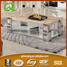 C377 stainless steel living room furniture design tea table