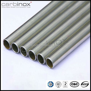 welded Stainless steel composite pipes,carbinox tubes