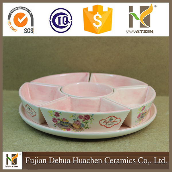 2017 Wholesale customized ceramic unique candy deep dishes