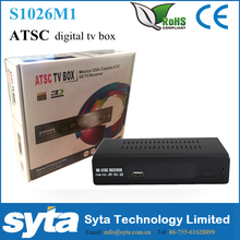 SYTA Hot FTA ATSC TV Converter Box Digital To Analog set top box FOR Canada ,Mexico and United States S1026