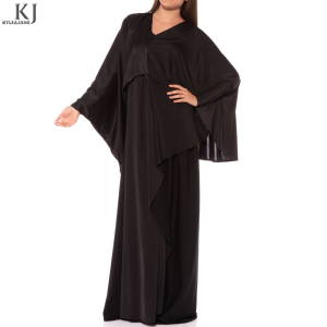 Middle East Ethnic Region And Islamic Clothing Type Latest Design Designer Jilbab Modern dubai butterfly abaya black big size