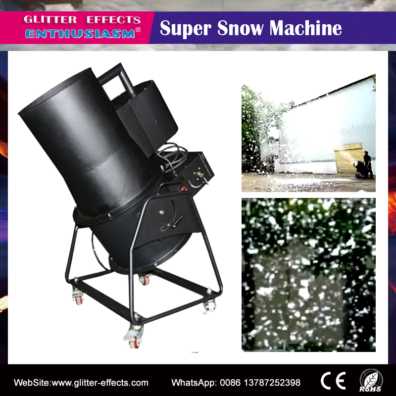 professional Stage special effect super snow making machine/ cenima scene snow flake flower blower