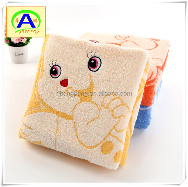 Animal cartoon pattern cotton face towel for children