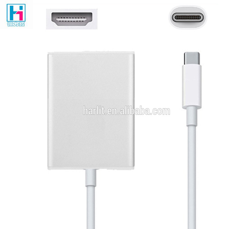 USB Type C 1080p HDTV Adapter Hub Cable For Apple Macbook Type C To HD converter