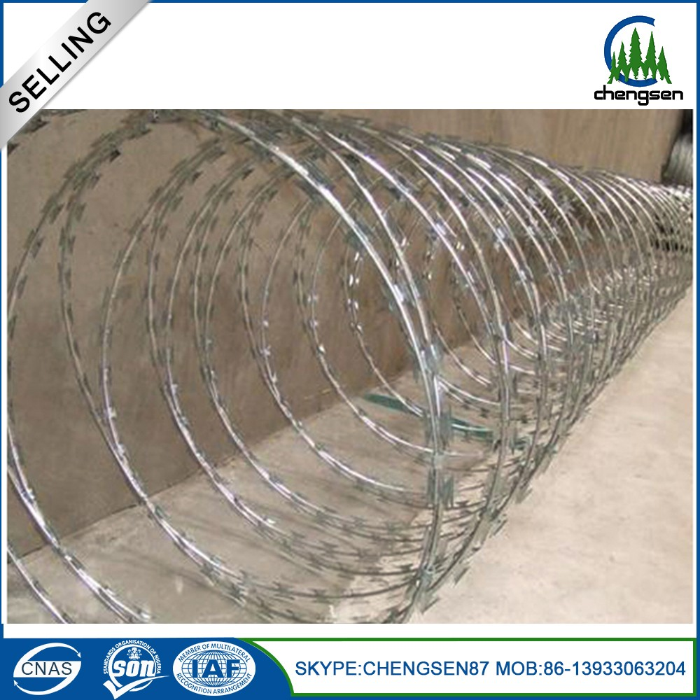 New products pvc razor barded wire