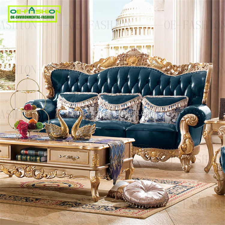 OEFASHION 3 seat three seat sofa fish style <strong>oak</strong> wood Fashion Sofa Set Living Room A25