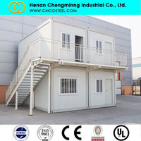 Fast building portable container house 20ft expandable container house/new building construction materials