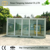 Metal Frame Multipurpose Modern Fireproof Prefab Container Cabins With Heat Insulation