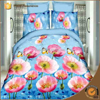 Elegant flower 3d bedding sets full/queen king bed linen quilt cover bed sheet comforter set 4/5pc bed in a bag