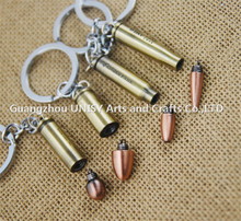 Different type bullet shape key chain /wholesale promotional personalized Weapons bullet key chain key ring
