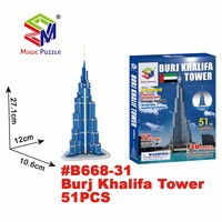 3d puzzle dubai burj khalifa tower office souvenir