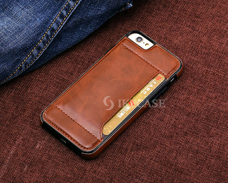 Unique Design Mobile Phone PU Leather Case Card Holder for iPhone 6 6S 6 Plus 6S Plus