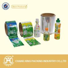 Shrink Wrap Bottle Labels Sticker Printing Labels Plastic Shrink Film For Bottle Label