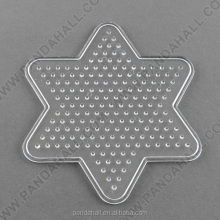 ABC Pegboard Rack for DIY Fuse Beads, Star, Clear, 103x92x5mm(DIY-R014-03)