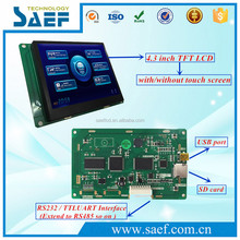 4.3'' inch LCD Touch Screen RS232 CMOS/TTL port Module
